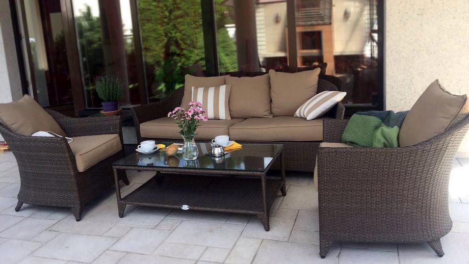 Pinti lauko baldai, sofa, ratano lauko baldai