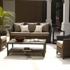 Pinti lauko baldai, Ratano lauko baldai, Lauko baldai, sofa
