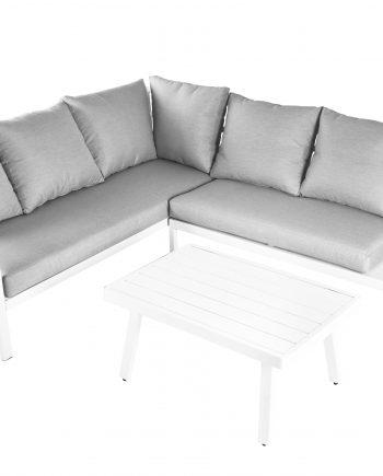 Aliuminio lauko baldai, kampas
