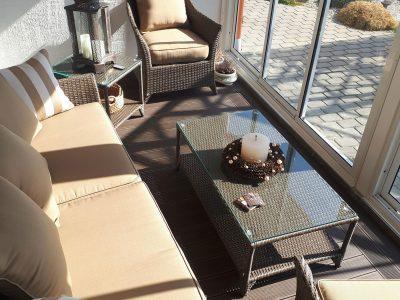 Lauko baldai, sofa Romantika