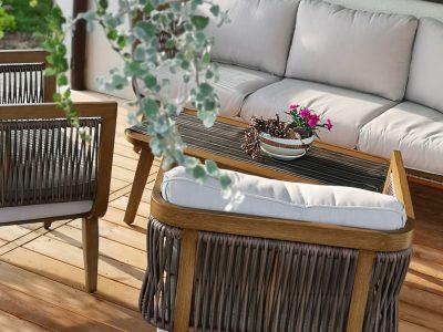 aliuminio lauko baldai Elegancija