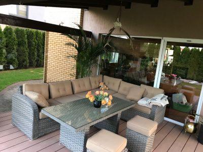 Minkšti Lauko baldai, kampas, sofos