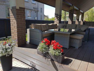 lauko baldai, terasos baldai, lauko kampas, sociai pailsek